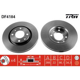TRW Bremsscheibe (DF4184) niedriger Preis