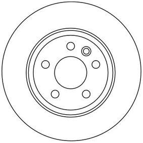 TRW Bremsscheibe 7D0615601A für VW, AUDI, SKODA, SEAT, PORSCHE bestellen