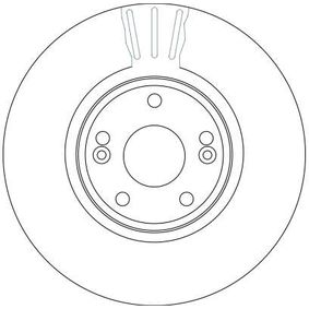 TRW Bremsscheibe 7701206614 für RENAULT, NISSAN, DACIA, RENAULT TRUCKS bestellen