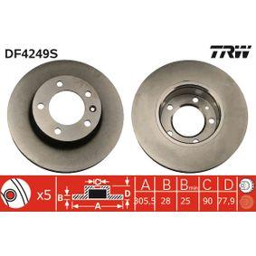 Bremsscheibe TRW Art.No - DF4249S OEM: 9111038 für OPEL, RENAULT, NISSAN, VAUXHALL, PLYMOUTH kaufen