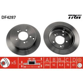 Bremsscheibe TRW Art.No - DF4287 OEM: 584113A300 für HYUNDAI, KIA kaufen