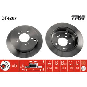 Bremsscheibe TRW Art.No - DF4287 kaufen