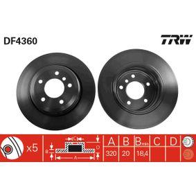 TRW Bremsscheibe (DF4360) niedriger Preis