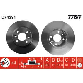 TRW RENAULT TWINGO Blattfeder (DF4381)