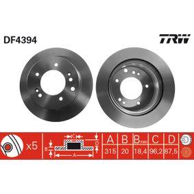 Bremsscheibe TRW Art.No - DF4394 kaufen