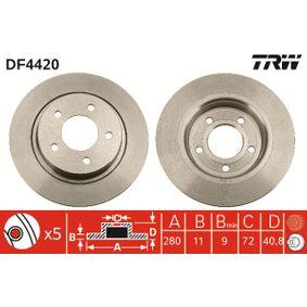 Filtro de aire (DF4420) fabricante TRW para MAZDA 3 (BK) año de fabricación 03/2004, 156 CV Tienda online