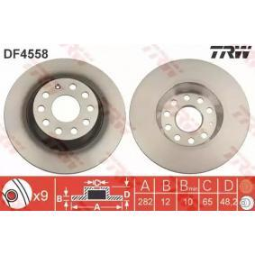 TRW DF4558 Спирачен диск OEM - 5Q0615601G AUDI, SEAT, SKODA, VW, VAG, LEMFÖRDER, TEXTAR, METELLI, BARUM, BRINK, DIEDERICHS, STARLINE, Omnicraft евтино