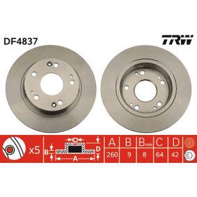 TRW HONDA CIVIC Filtro de aceite (DF4837)