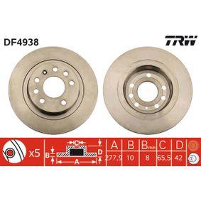 Bremsscheibe TRW Art.No - DF4938 OEM: 93184247 für OPEL, DODGE, VAUXHALL, HOLDEN kaufen