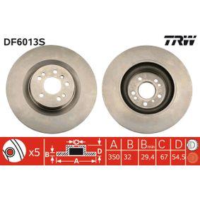 Спирачен диск TRW Art.No - DF6013S OEM: 1644210512 за MERCEDES-BENZ купете