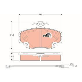 Bremsbelagsatz, Scheibenbremse TRW Art.No - GDB1465 OEM: 7701206082 für RENAULT, DACIA, LADA, SANTANA, RENAULT TRUCKS kaufen