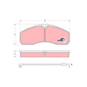 Bremsbelagsatz, Scheibenbremse TRW Art.No - GDB1610 OEM: 5001844748 für VW, RENAULT, NISSAN, IVECO, MAN kaufen