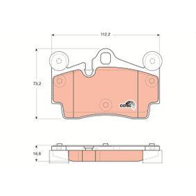 TRW VW TOUAREG Set placute frana, frana disc (GDB1653)