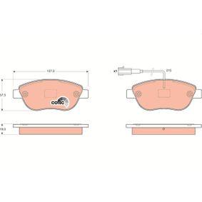 Bremsbelagsatz, Scheibenbremse TRW Art.No - GDB1655 OEM: 1605157 für OPEL, VAUXHALL kaufen