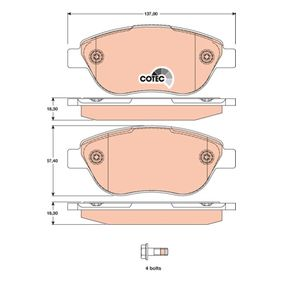 Bremsbelagsatz, Scheibenbremse TRW Art.No - GDB1750 OEM: 77365857 für FIAT, ALFA ROMEO, LANCIA, ABARTH kaufen