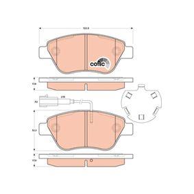 Bremsbelagsatz, Scheibenbremse TRW Art.No - GDB1891 kaufen