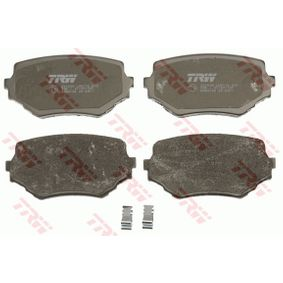 TRW COTEC Brake Pad Set, disc brake Front Axle, with acoustic wear warning,  with accessories