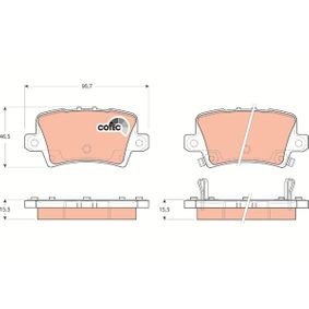 TRW HONDA CIVIC Brake pads (GDB3408)