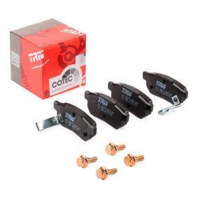 Комплект спирачно феродо, дискови спирачки TRW Art.No - GDB499 OEM: GBP90316AF за HONDA, SKODA, ROVER, MG купете