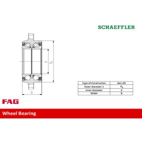 FAG Wheel Bearing Kit 3D0498607A for VW, AUDI acquire