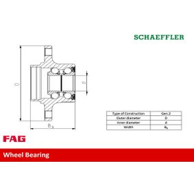 Wheel bearing kit 713 6178 90 FAG