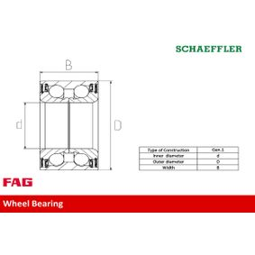 Wheel hub 713 6187 60 FAG