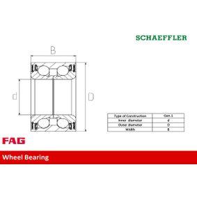 FAG Radlagersatz 90510542 für OPEL, CHEVROLET, SAAB, DAEWOO, VAUXHALL bestellen