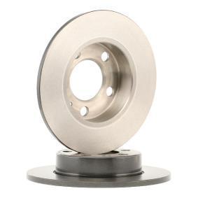 Bremsscheibe Hinterachse, Ø: 230mm, Voll, beschichtet von hersteller BREMBO 08.7165.11 bis zu - 70% Rabatt!