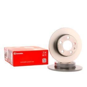 BREMBO Disco de travão Eixo traseiro, Ø: 230mm, Cheio, revestido 08.7165.11 conhecimento especializado