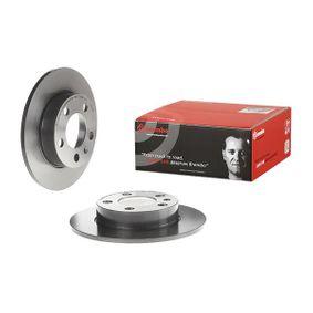 BREMBO Disc frana puntea spate, Ř: 230mm, plin, acoperit (cu un strat protector) Art. Nr 08.7165.11 favorabil