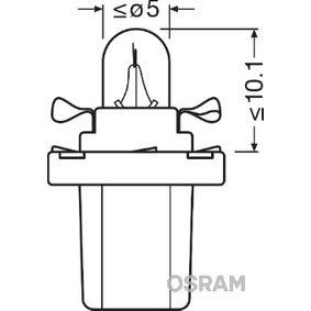 OSRAM RENAULT CLIO Beleuchtung Instrumente (2722MF)