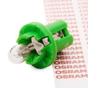 OSRAM Glödlampa, instrumentbelysning Sockelglödlampa 2722MF original kvalite