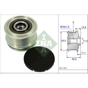 INA Ремъчна шайба алтернатор (535 0012 10)