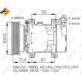 CLIO II (BB0/1/2_, CB0/1/2_) NRF Kompressor Klimaanlage 32259