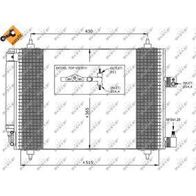 Kondensator, Klimaanlage NRF Art.No - 35649 OEM: 6455CP für PEUGEOT, CITROЁN, VOLVO, PIAGGIO, DS kaufen