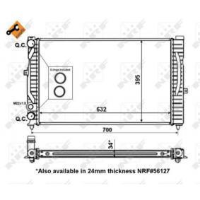 Wasserkühler (509504) hertseller NRF für VW PASSAT 1.9 TDI 130 PS Baujahr 11.2000 günstig