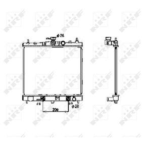 NRF Heat Exchanger, interior heating for right-hand drive vehicles Aluminium 58621 original quality