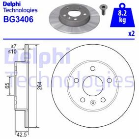 DELPHI OPEL ZAFIRA Bremsscheiben (BG3406)