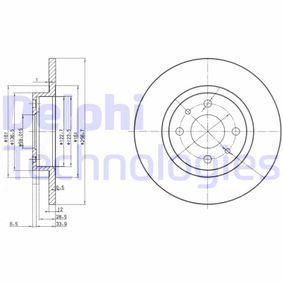 DELPHI FIAT 500 Discos de freno (BG2411)