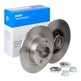 Bremsscheibe DELPHI Art.No - BG9028RS OEM: 8200038305 für RENAULT, DACIA, RENAULT TRUCKS kaufen