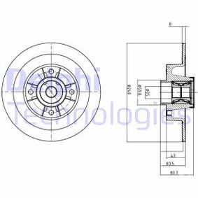 TWINGO II (CN0_) DELPHI Verschleißanzeige Bremsen BG9028RS