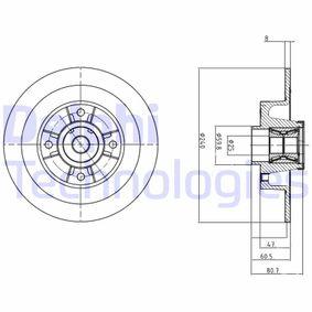 8200038305 für RENAULT, DACIA, RENAULT TRUCKS, Bremsscheibe DELPHI (BG9028RS) Online-Shop