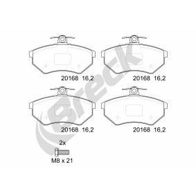 Bremsbelagsatz, Scheibenbremse BRECK Art.No - 20168 00 701 00 OEM: 357698151D für VW, AUDI, SKODA, SEAT kaufen