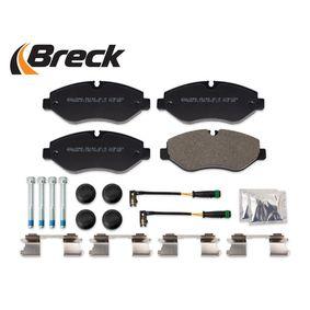 BRECK Bremsbelagsatz, Scheibenbremse 2E0698151 für VW, MERCEDES-BENZ, AUDI, SKODA, SEAT bestellen