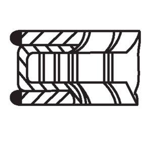 TWINGO II (CN0_) MAHLE ORIGINAL Kolbenringsatz 022 16 N2