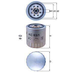 Bränslefilter | MAHLE ORIGINAL Artikelnummer: KC 63/1D