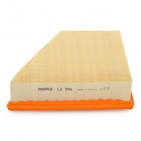 MAHLE ORIGINAL LX 998 Luftfilter OEM - 5Z0129620 AUDI, SEAT, SKODA, VW, VAG, FIAT / LANCIA, METELLI, DIEDERICHS, KAMOKA günstig