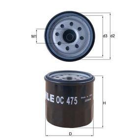 MAHLE ORIGINAL RENAULT TWINGO Ölfilter (OC 475)