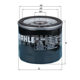 MAHLE ORIGINAL Filtre à huile (OC 606) à bas prix