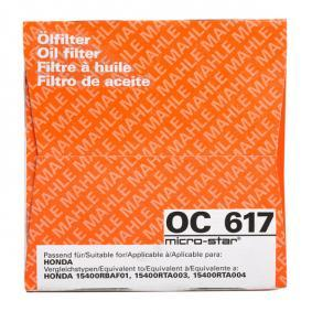 MAHLE ORIGINAL Oil Filter (OC 617) at low price